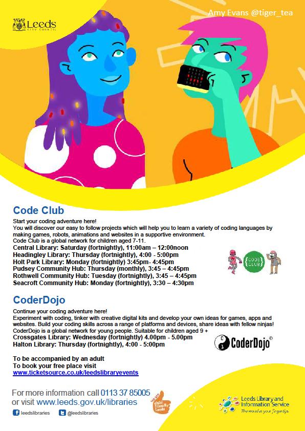 Leeds Libraries Code Club List