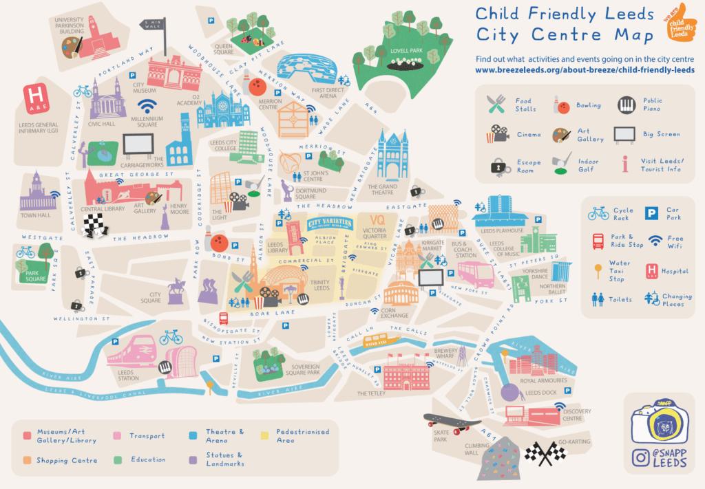 Child Friendly Leeds City Centre Map