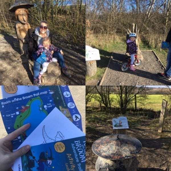 Anglers Country Park walk with children near Leeds