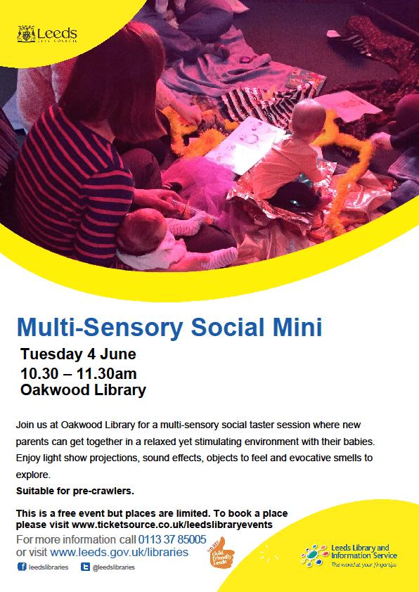 Multi Sensory Social at Oakwood Library | North Leeds